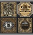 vintage cards set western style vector image