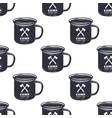 vintage hand drawn camp mug pattern design vector image