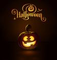 Jack o Lantern Dark Happy vector image