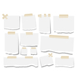 Blank paper torn page notes Office notepaper vector image