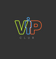vip club invitation template vector image