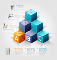 3d business infographics staircase diagram vector image