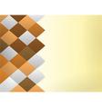 color quadrangles background vector image vector image