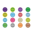 Globe Earth logo icon set vector image