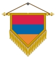 pennant with the flag of armenia vector image