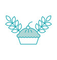 deliciuos cake and wheat grain berry bakery food vector image
