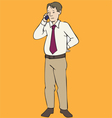 Man Standing With Phone vector image