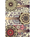 mandalas cards vector image