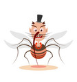 mosquito cartoon character vector image