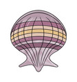 seashell marine symbol vector image