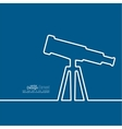 Telescope standing on a tripod vector image