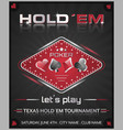 Texas holdem poker tournament poster vector image