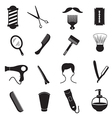 Barber Tools and Men Hairstyle Equipments vector image