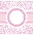 white guipure with ribbon and stiches vector image vector image
