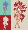 Rio Carnival Queen vector image vector image