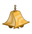 bells hanging on chain instrument sound vector image