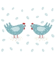 Funny Hen and Eggs vector image