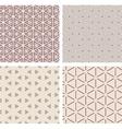 Set of seamless geometric patern vector image