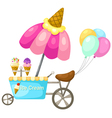 cart stall and a ice cream vector image