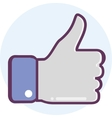 Icon thumbs up vector image