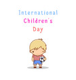 international children s day vector image