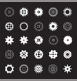 set of white gears vector image