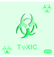 Toxic sign on green background vector image