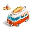 Van with fast food vector image