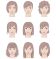 Women s faces vector image