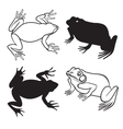 Two frog silhouettes vector image vector image