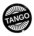 Famous dance style tango stamp vector image