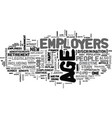 ageism in the workforce text word cloud concept vector image