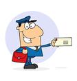 Cartoon mail man vector image