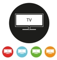 Tv sets silhouette icons for your design vector image vector image