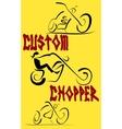 Motorcycle Custom vector image