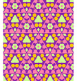 pink violet green orange color abstract geometric vector image