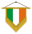 pennant with the flag of ireland vector image