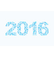 Snowflakes 2016 Figures from snow Figures for new vector image