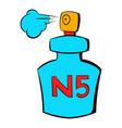 bottle of chanel no5 perfume icon cartoon vector image