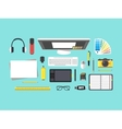 Cartoon Designer Workplace vector image