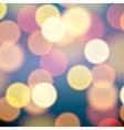 Christmas lights blurred background vector image
