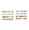 garlands flags of different forms vector image