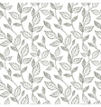 Hand-drawn black and white seamless pattern with vector image