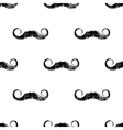 Hand drawn seamless with mustaches vector image