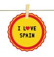 I lOVE SPAIN4 vector image