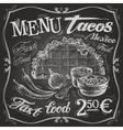 Mexican food logo design template tacos burritos vector image