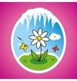 spring flower in frame vector image