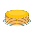 Pancakes with honey icon cartoon style vector image vector image