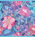 romantic floral pattern vector image