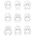 Women s faces vector image